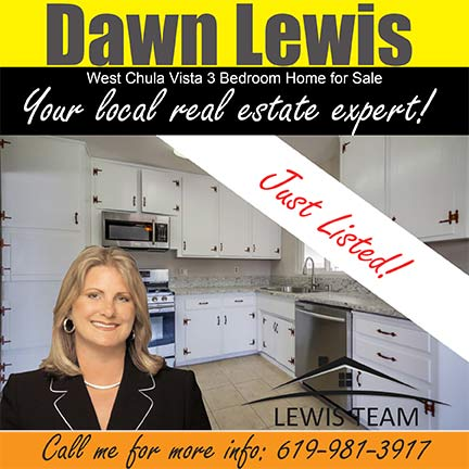 Just Listed Chula Vista 3 Bedroom Home by Dawn Lewis