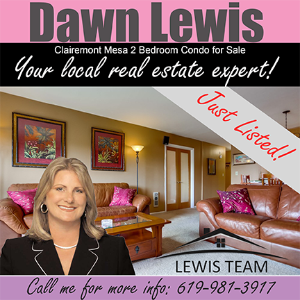 Just Listed Clairemont Mesa Condo by Dawn Lewis San Diego Realtors