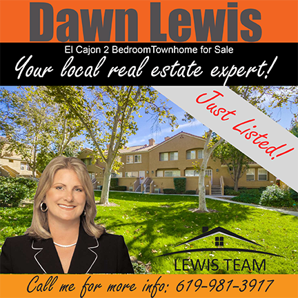 Just Listed El Cajon Townhome by Dawn Lewis San Diego Realtors