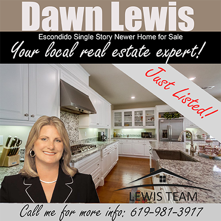 Just Listed Escondido Single Story Home by Dawn Lewis San Diego Realtor
