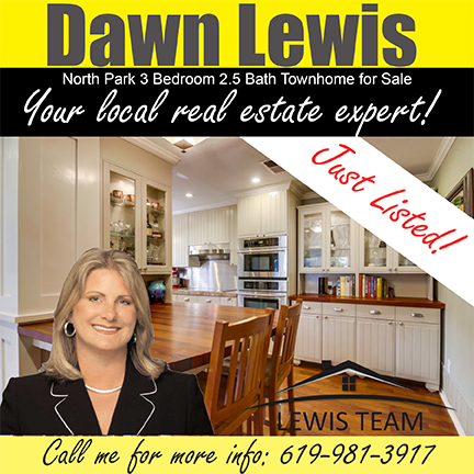 Just Listed North Park Townhome by Dawn Lewis San Diego Realtors