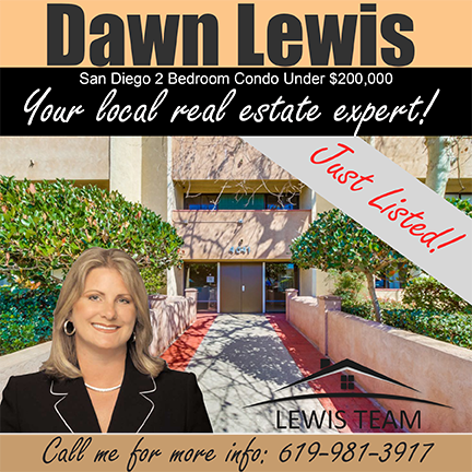 Just Listed San Diego 2 Bedroom Condo by Dawn Lewis San Diego Realtors