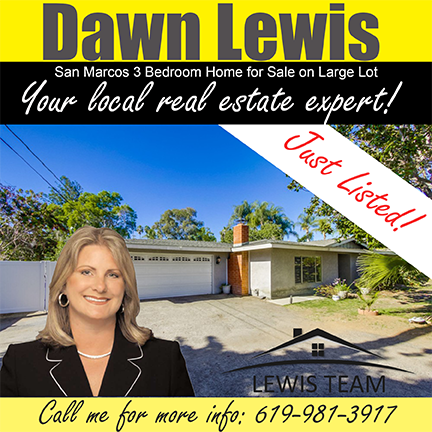 Just Listed San Marcos Home by Dawn Lewis San Diego Realtors