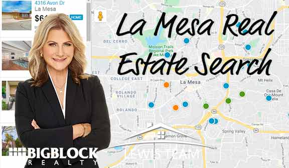 La Mesa Real Estate Search by Map in San Diego