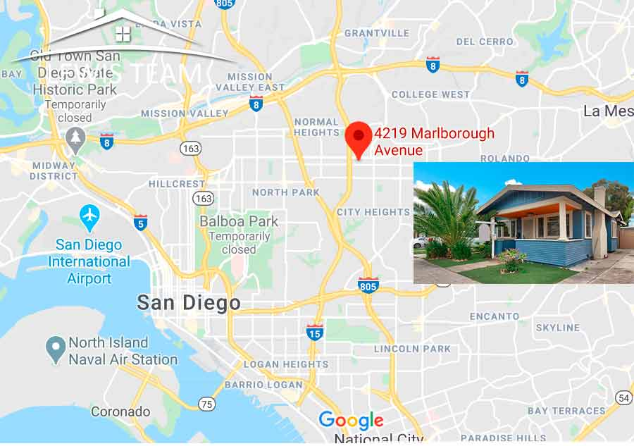 Map for city heights real estate san diego homes for sale