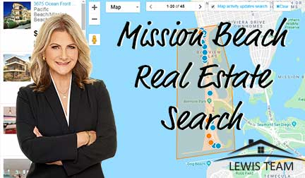 Mission Beach Real Estate Search by Map