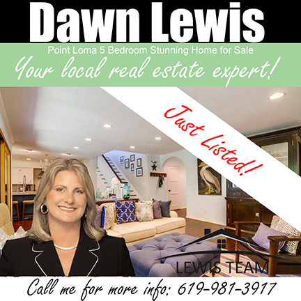 Point Loma Home by Dawn Lewis and The Lewis Team Just Listed