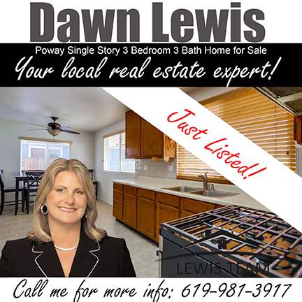 Poway Home for Sale by Dawn Lewis and the team