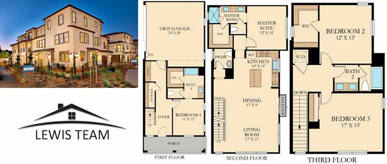 Residence 1 Floor Plan The Collection at St Cloud San Diego New Homes in Oceanside CA