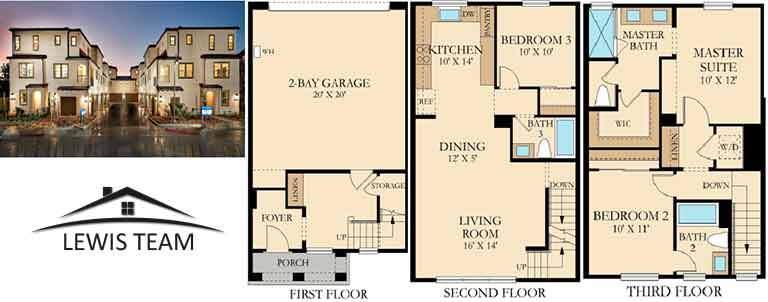 Residence 2 Floor Plan The Collection at St Cloud San Diego New Homes in Oceanside CA