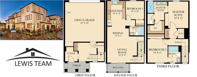 Residence 2x Floor Plan The Collection at St Cloud San Diego New Homes in Oceanside CA
