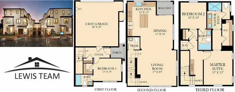 Residence 4 Floor Plan The Collection at St Cloud San Diego New Homes in Oceanside CA