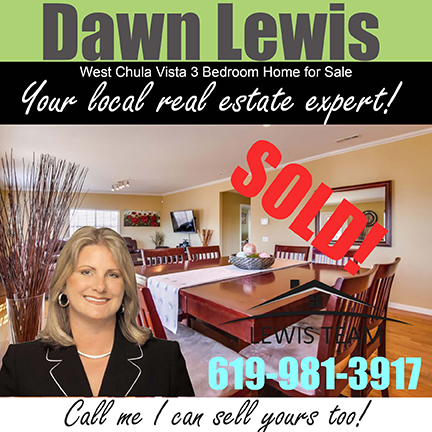 Sold by Dawn Lewis Chula Vista Hilltop Area Real Estate