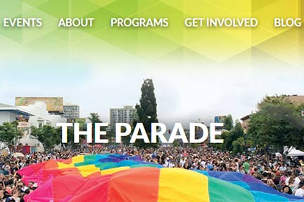 The annual San Diego Pride Parade July 2019