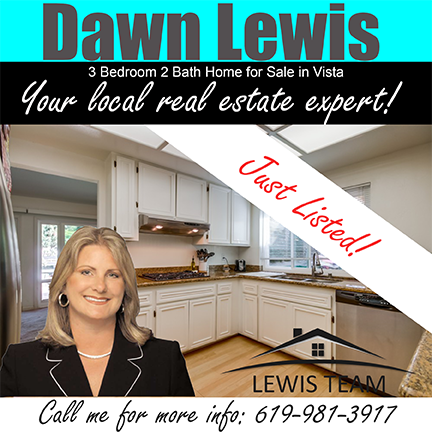 Vista Home for Sale by Dawn Lewis San Diego Realtor
