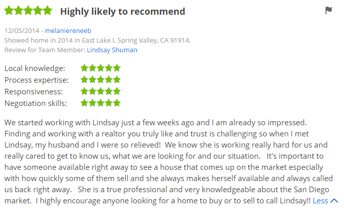 Zillow Agents in San Diego - Chula Vista 5 Star Zillow Agent in Eastlake - The Lewis Team San Diego