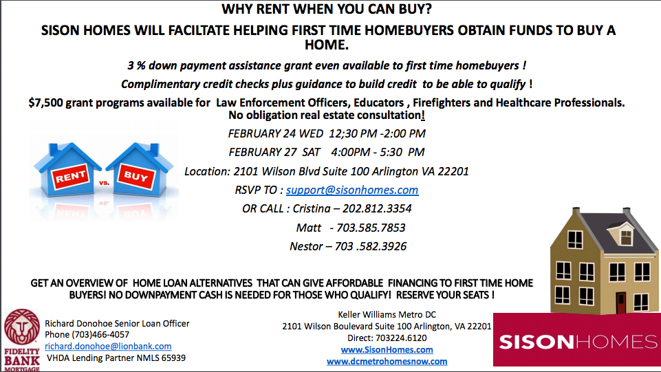 Attend DC home buying workshop.