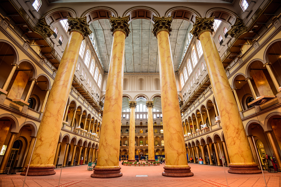 Visit the National Building Museum near DC real estate.