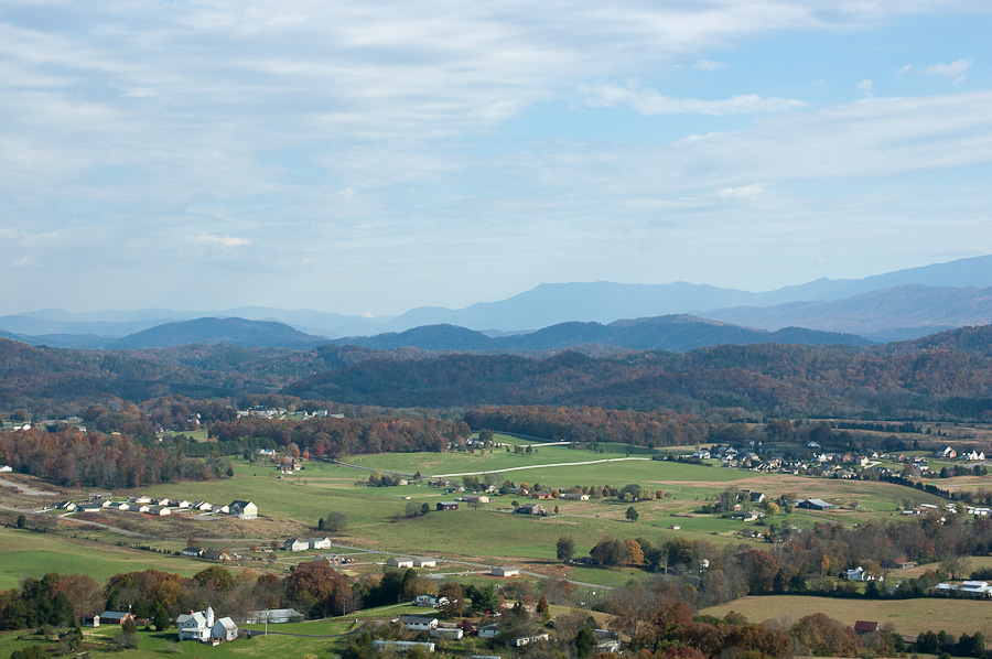 View of countryside near Kodak, Tennessee