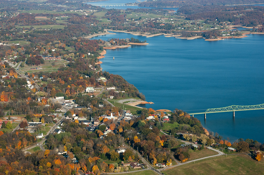 Dandridge and White Pine Tennessee- Aerial View
