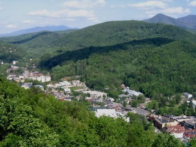 View of Gatlinburg in Summer