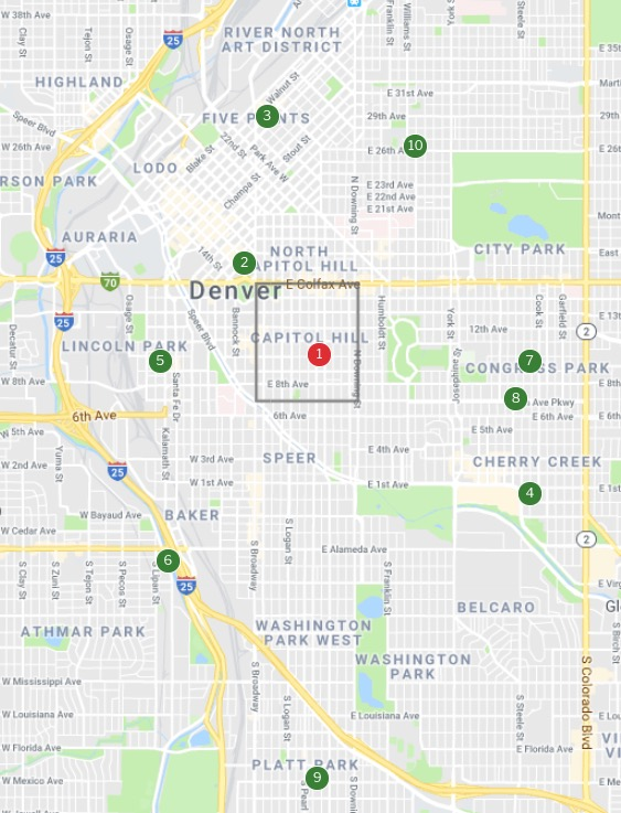 10 most walkable neighborhoods in Denver