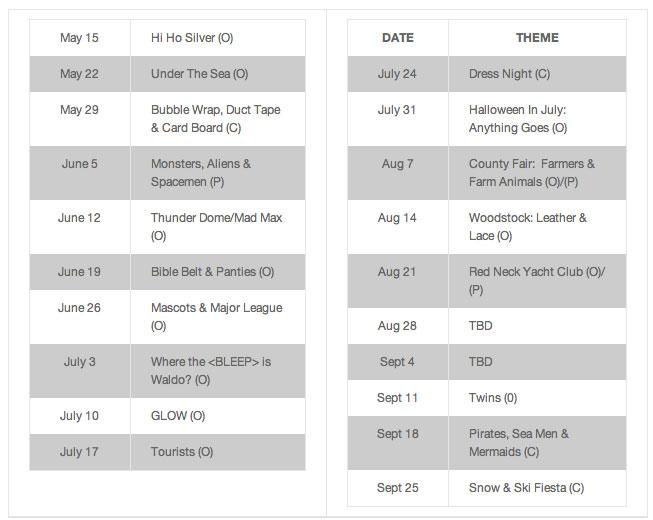 Cruiser Bike Schedule