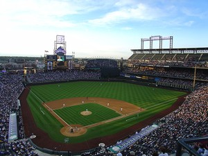 Coors Field Opening day