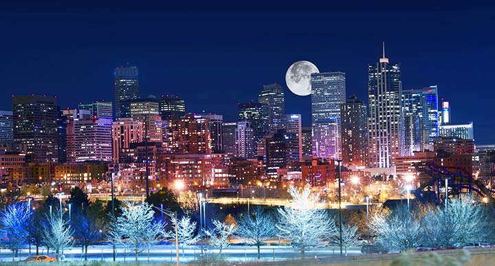 Denver beautiful in winter