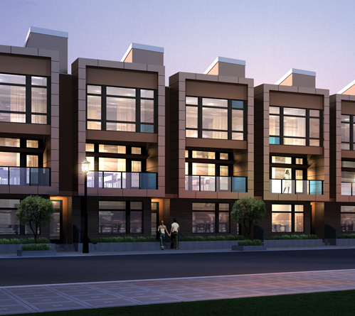 Chroma townhomes for sale in ballpark denver for Modern townhouse plans