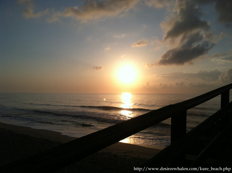 Sunrise on Kure Beach