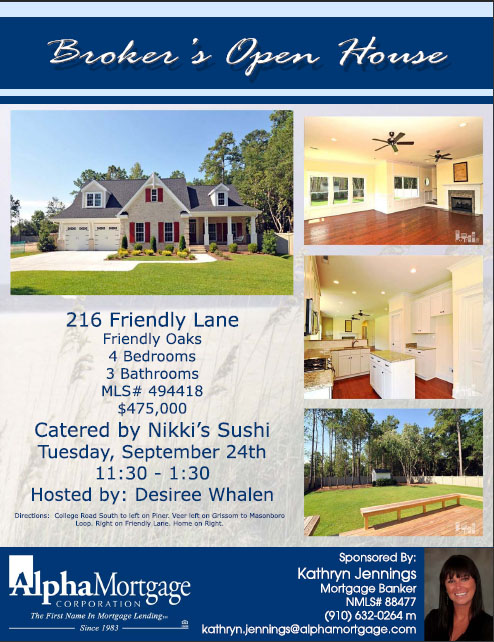 Broker's Open House - 216 Friendly Lane Wilmington, NC 28409