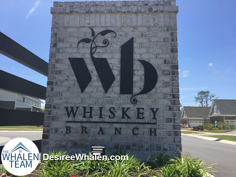 Whiskey Branch entry sign