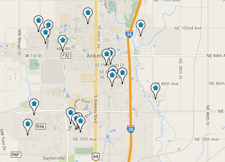Ankeny Iowa Homes for Sale Map Search Results