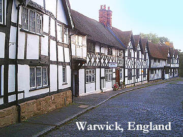 Actual Tudor homes in Warwick, UK