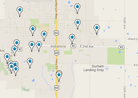 Indianola Homes for Sale Map Search Results