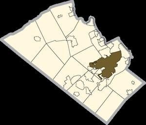 Wikipedia - Allentown School District Map