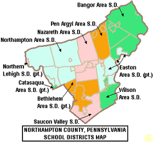 Wikipedia - Northampton County School District Map