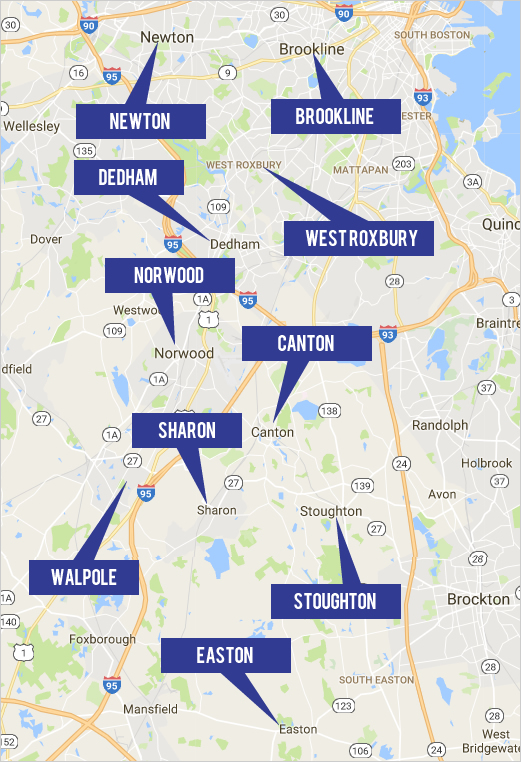 View Sharon Real Estate By Map