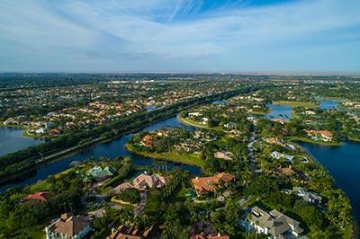 weston aerial view