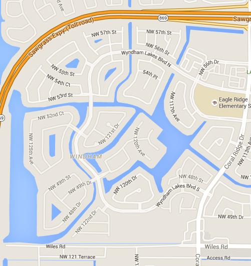 Wyndham Lakes Map