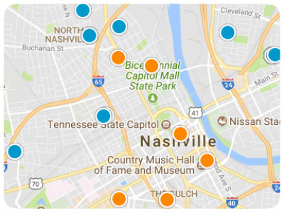Middle Tennessee Real Estate Map Search