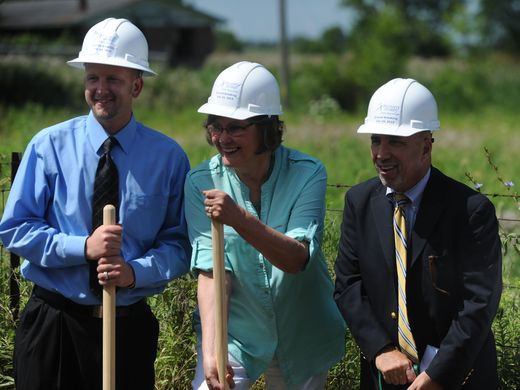 Ground Breaking Ceramony at I-70/SR 1 Location