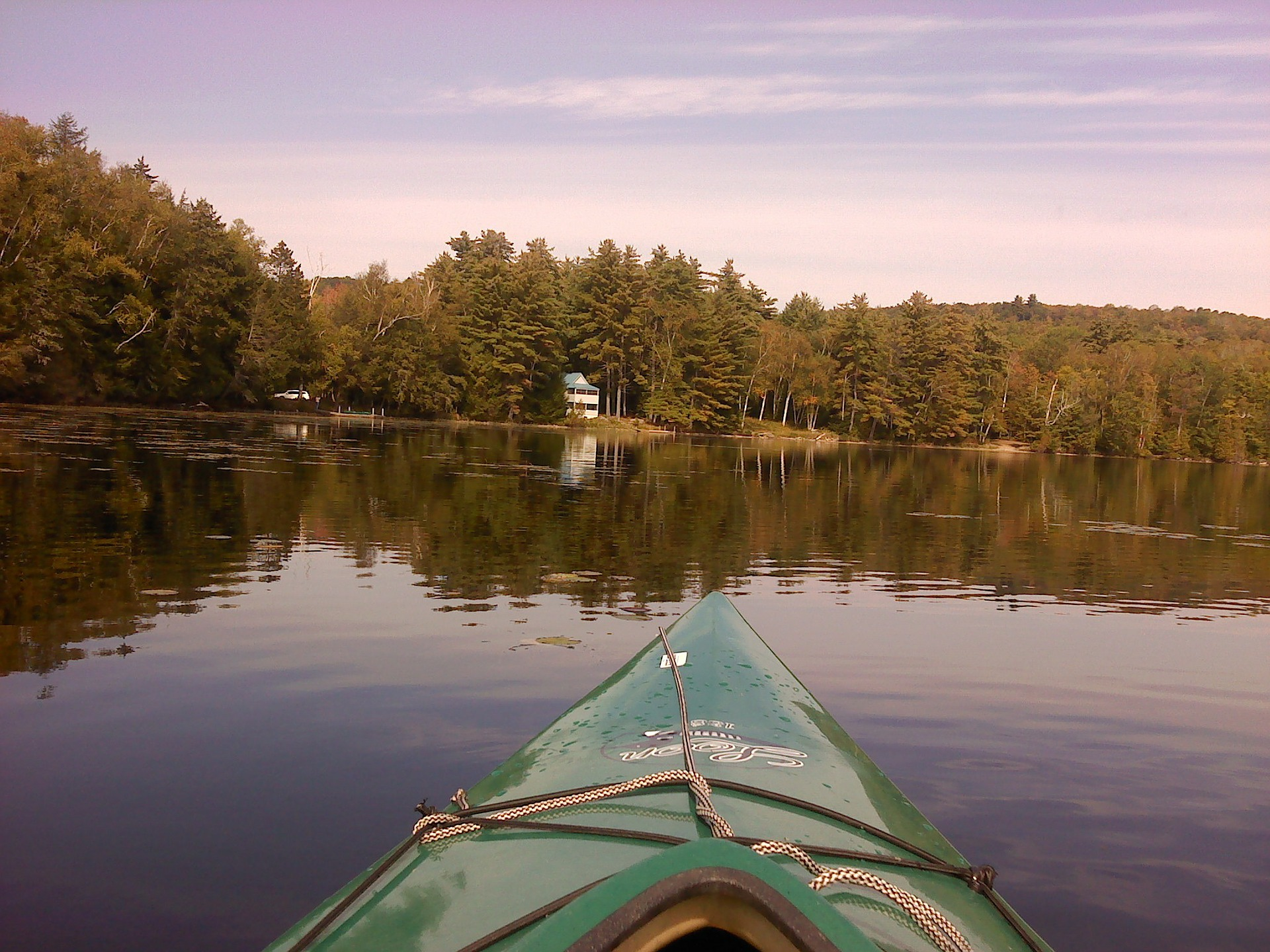 Kayaking Maine Lake