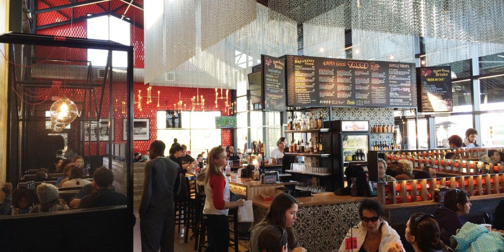 View of Torchy's Mueller Location Interior