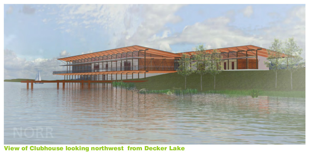 Decker Lake Clubhouse Rendering, courtesy of Decker Lake Golf LLC's proposal