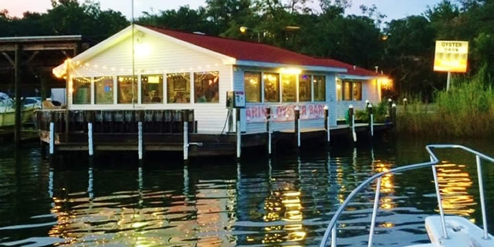 Marina Oyster Bar on Bayou Texar