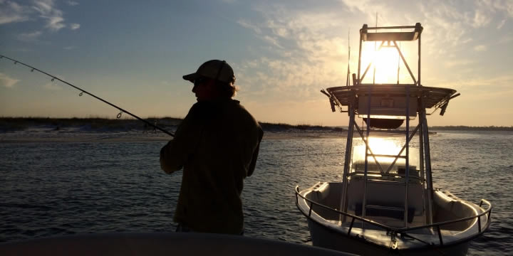 Fishing on Pensacola Bay