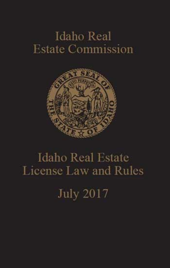 Idaho Real Estate License Law and Rules