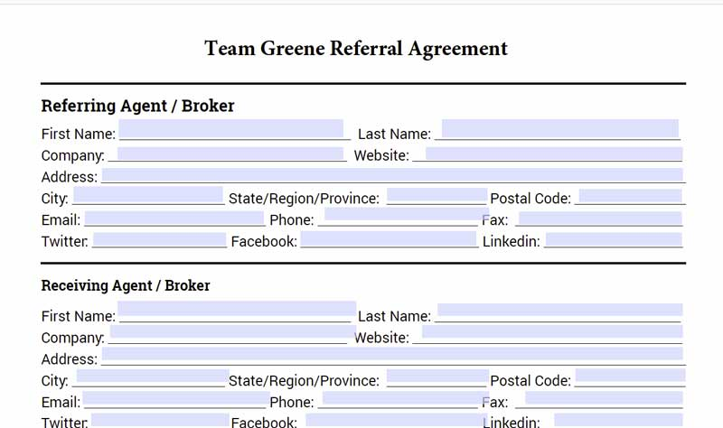 Rexburg Real Estate Agent Referral Agreement